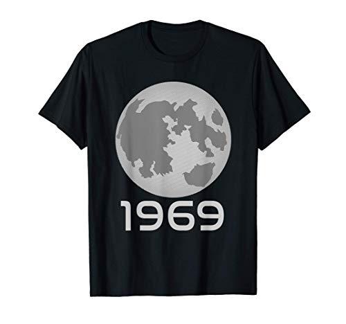 Luna Llena 1969 Apolo 11 Luna aterrizaje 50 Años Camiseta