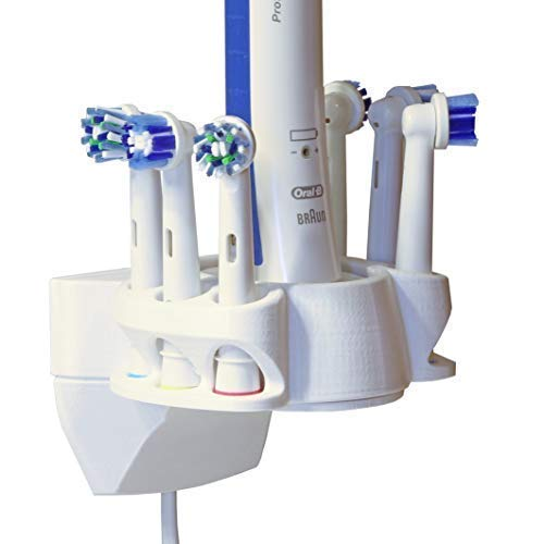 Soporte de pared para Cepillos, Portacepillos de dientes compatible con Oral-B para 6 cepillos, impresión 3D, fabricado en Alemania