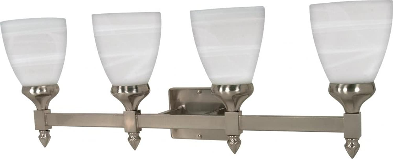 Nuvo Lighting 60 594 Four Light Fixture Vanity, Pwt, Nckl, B S, Slvr.