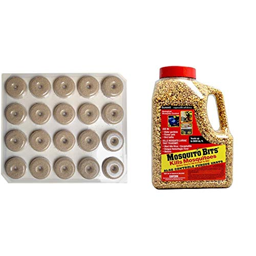 Summit Mosquito Dunks, 20 Dunks & Summit Chemical CO 117-6 30OZ Mosquito Bits