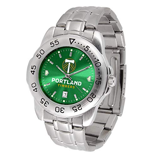 Game Time MLS Portland Timbers Mens Sport SteelWrist Watch, Team Color, One Size