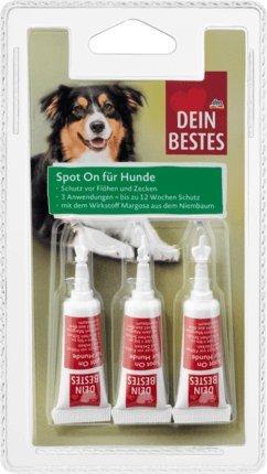 Dein Bestes Zubehör für Hunde, Spot On Tropfen, Schutz vor Flöhen & Zecken, 3 x 2,5 ml, 7 g Biozidprodukt