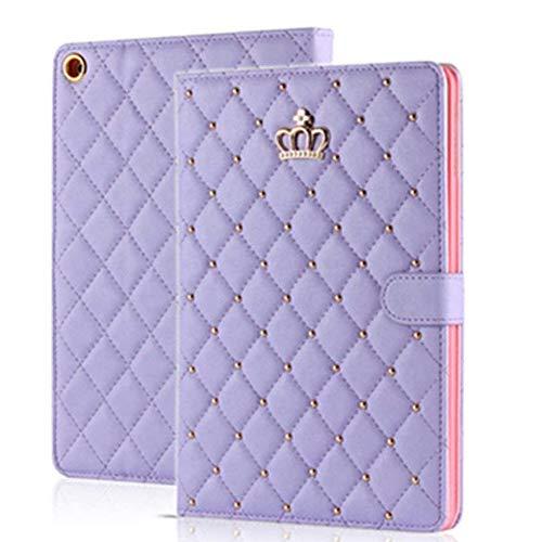 Topwin iPad 2/3/4 Case,Crown Design Bling Diamond Cute Elegant Premium PU Leather Smart Auto Sleep/Wake Stand Case for Apple for Apple iPad 2, iPad 3 & iPad 4th Gen with Retina Display (Purple)