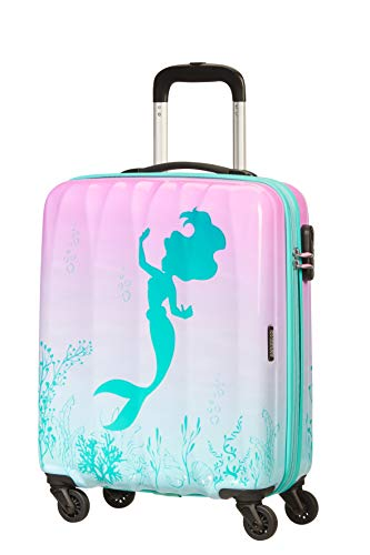 American Tourister Disney Legends - Spinner S Equipaje de Mano, 55 cm, 36 L, Multicolor (The Little Mermaid)