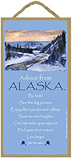 "SJT. Enterprises, INC. Advice from Alaska (Winter Scene) / 5"" x 10"" Wood Plaque, Sign - Licensed from Your True Nature (SJ..."