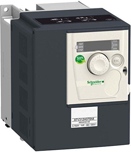 Schneider ATV312H075N4 Frequenzumrichter ATV312, 0, 75kW, 2, 4kVA, 41W, 380.500 V- 3-PH. vers.Span