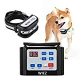 WIEZ Wireless Dog Fence Electric & Training Collar 2-in-1, Dual Antenna, Adjustable Range Control 100-990 ft, Adjustable Warning Strength, Rechargeable,Harmless