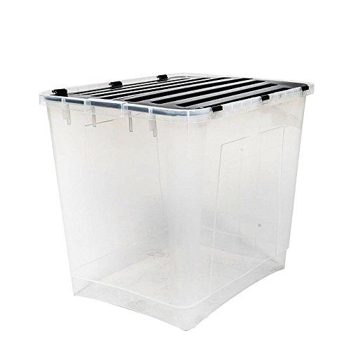 esto24 Aufbewahrungsbox mit Deckel Größe: 100 Liter Ideal für Büro, Kinderzimmer, Küche & Werkstatt