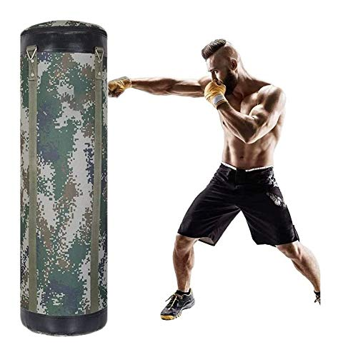 WUYOU Sandsack Boxsack Schwere Tasche UNGEFÜLLTE Hängende Boxsack Mit Mount Chain Muay Thai Boxen MMA Fitness Workout Training Treten Boxsack (Color : A)