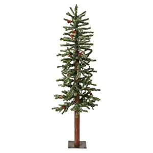 vickerman 2′ frosted alpine berry artificial christmas tree with 50 warm white led lights silk flower arrangements