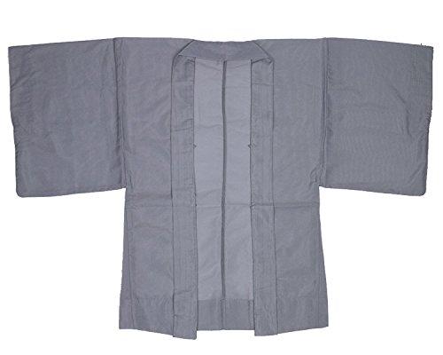 [キョウエツ] 羽織 夏用 洗える 無地 単衣 駒絽生地 単品 メンズ (M, 鳩羽)