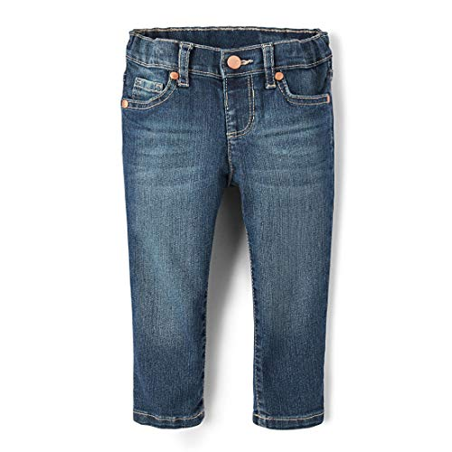 The Children's Place Baby Girls and Toddler Girls Basic Skinny Jeans, Blues Wash, 5T