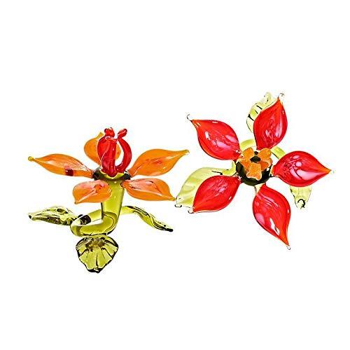 CRISTALICA Seerose Tischdekoration Blumen 10cm Glas Blüten Figur Kunstblumen Geschenk