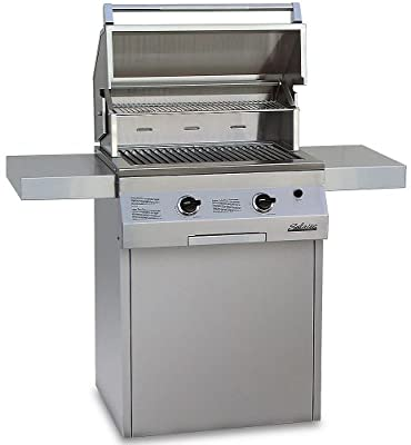 Solaire 27-Inch Deluxe InfraVection Natural Gas Grill on Square Cart with Rotisserie Kit, Stainless Steel