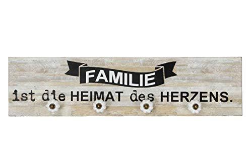 Schrijver decoratie houten bord Familie ist die Heimat des Herzen/60 x 15 cm