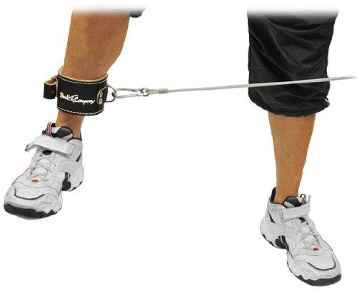 Deluxe Leder Fußschlaufe schwarz (Stück) verstellbare Fußschlaufe inkl. Ringöse BC-27