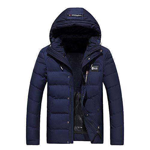 ITISME Herren Daunenjacke Winterjacke Hooded Puffer Jacket, Steppjacke gefüttert mit Kapuze