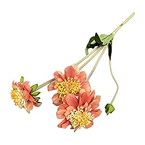Silk Flower Arrangements dSNAPoutof Artificial Flower Non-Fading Bright-Colored Long Lasting Wide Application Iris Ensata Thunb Fake Flower for Wedding, Home Decor, Party, Balcony - Dark Orange