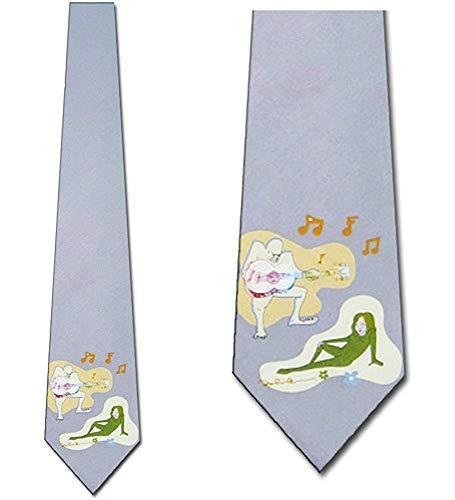 John Lennon Corbatas Corbatas para hombre con temas musicales John Lennon Hombre Mujer Corbata Gris Corbata para hombre
