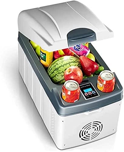 20L coche mini refrigerador horizontal de doble núcleo de enfriamiento rápido de calefacción puede congelar el hogar enfriamiento con pantalla digital blanco