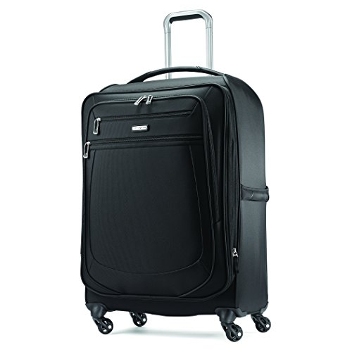 Samsonite Mightlight 2 Softside Luggage with Spinner Wheels, Black, Checked-Large 30-Inch