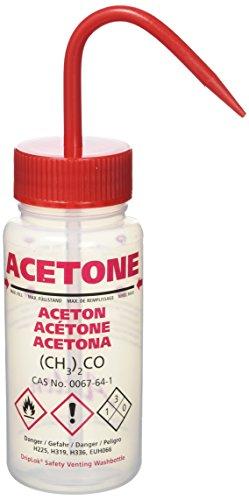 Azlon WGW531VT Wash Bottle, Acetone with Driplock seal, 250 mL (Pack of 5)