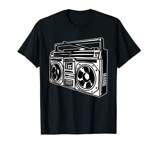 80s Ghettoblaste Hip Hop T-shirt, 10 Colors, Sizes up to 3XL