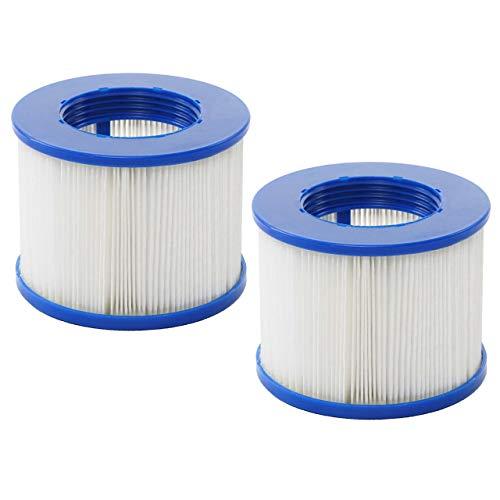 Mendler Wasserfilter für Whirlpool HWC-E32, Ersatzfilter Filterkartusche Filterpatrone Lamellenfilter, Zubehör - 2 Stück