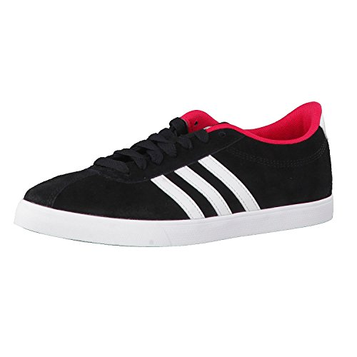 adidas Courtset W, Zapatillas de Deporte para Mujer, Negro (Negbas/Ftwbla/Rosene), 38 EU