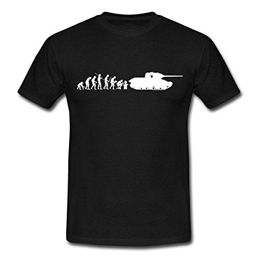 World of Tanks Evolution Panzer Männer T-Shirt, XXL, Schwarz
