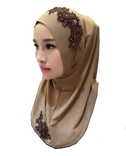 zhbotaolang Musulmán Islámico Arabe Mujer Hijabs - Pañuelo en la Cabeza Envolturas Velos Partido Boda Ramadan Oración Turbante