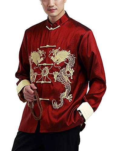 Chino Tradicional Traje Tang de Manga Corta Artes Marciales Camisa Tops Xinvivion Uniforme de Kung Fu Hombres