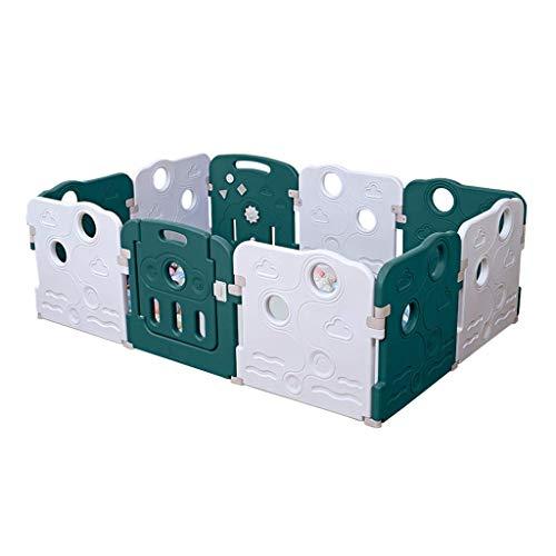 Relaxbx baby speelhek kinderen 'S 10 Panel Security Game Center erf plastic draagbare indoor Outdoor valbeveiliging hek, multifunctioneel 2 kleuren 187 * 127 cm