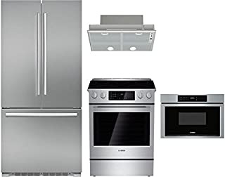 Bosch 4-Piece Stainless Steel Kitchen Package with B21CT80SNS 36