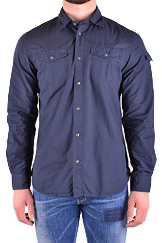 WOOLRICH Luxury Fashion Herren WOCAM0674LR053107 Blau Baumwolle Hemd | Jahreszeit Permanent