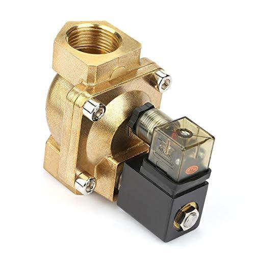 Válvula electromagnética eléctrica de latón PU225-08 Válvula electromagnética accionada por piloto para conveniente para los medios para aplicado de materiales (DC24V)