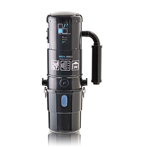 Prolux CV12000 Black Central Vacuum Cleaner Power Unit with Powerful 2 Stage Motor and HEPA Filtration