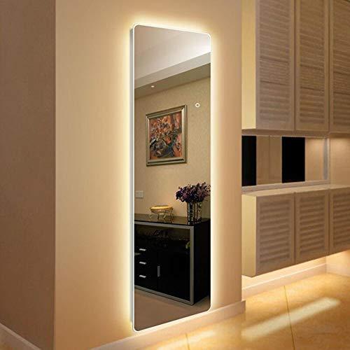 L&ED Ganzkörperspiegel Bodenspiegel, LED-beleuchteter Bad- / Kosmetikspiegel Zur Wandmontage, Hintergrundbeleuchtung, Dekorativer Spiegel Auf Der Veranda, Warmes Licht