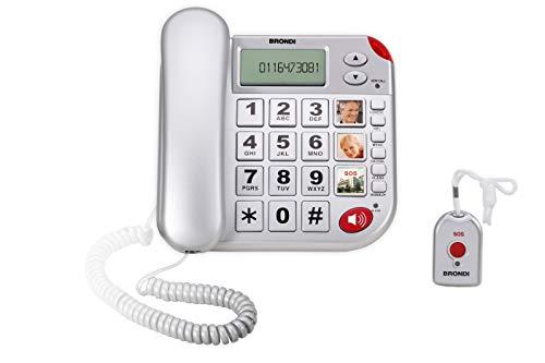 Brondi Super Bravo Plus Telefono Fisso, Argento
