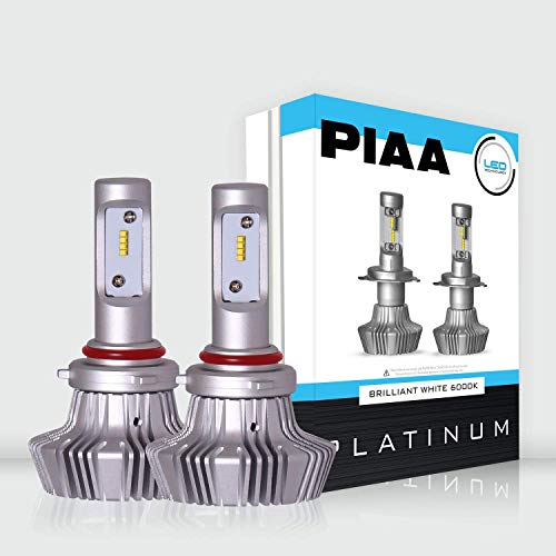 PIAA 26-17395 White 9005 Platinum LED Bulb, 2 Pack (6000K 9005 (HB3) 4000Lm, 6000K, 25W)