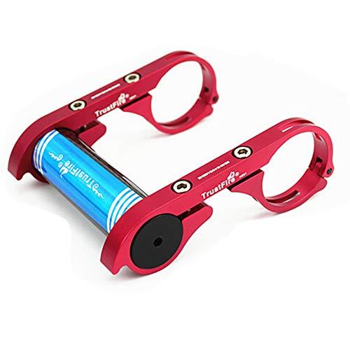TrustFire HE01 Soporte de bicicleta para manillar de bicicleta accesorio extensor para luz de bicicleta, linterna, cronómetro, dispositivos GPS cámara deportiva o smartphones - color rojo