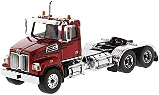 Diecast Masters Western Star 4700 SF Tandem Day Cab Tractor Metallic Red 1/50 Diecast Model