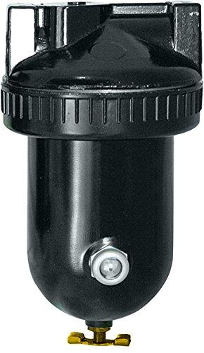 "Arrow Pneumatics F329-08W 1"" Filter, 40 Micron, 29 Oz. Metal Bowl, 250 Psig, 40 to 160 Degrees F, Black Coated Aluminum Body"