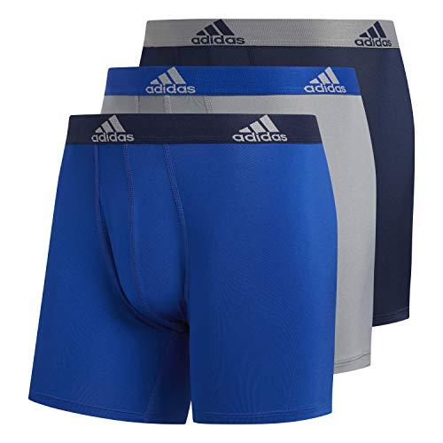 adidas Herren Performance Boxershorts Unterwäsche (3er-Pack), Collegiate Royal/Collegiate Navy Grey/Collegiate R, X-Large