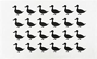 The Duck Silhouette Large Cotton Tea Towel by Half a Donkey