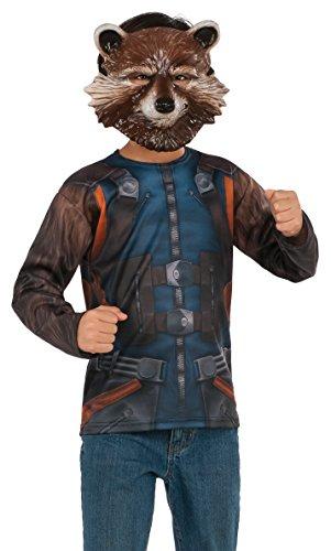 Rubie's Disfraz de Guardianes de la Galaxia Vol. 2 para niños de Rocket Raccoon, talla L