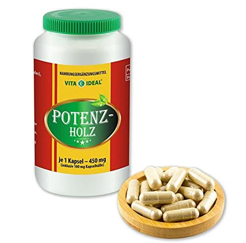 VITAIDEAL ® POTENZHOLZ (Muira puama, Ptychopetalum Olacoides) 180 Kapseln je 450mg, aus rein natürlichen Kräutern, ohne Zusatzstoffe von NEZ-Diskounter