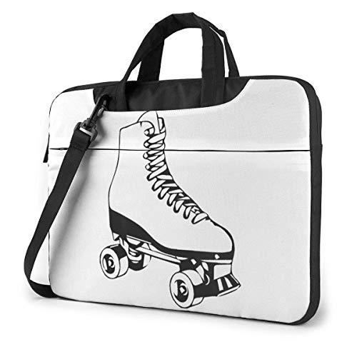 15.6 inch Laptop Shoulder Briefcase Messenger This is How I Roll Roller Skates White Tablet Bussiness Carrying Handbag Case Sleeve