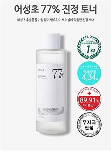 ANUAHEARTLEAF77%SOOTHINGTONER500mlアヌアドクダミ77%スージングトナー/ギョセイソウ化粧水敏感肌