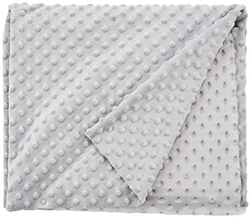 CRS Fur Fabrics Tela de Forro Polar Suave de Lujo, Muy Suave, Color Plateado y Gris